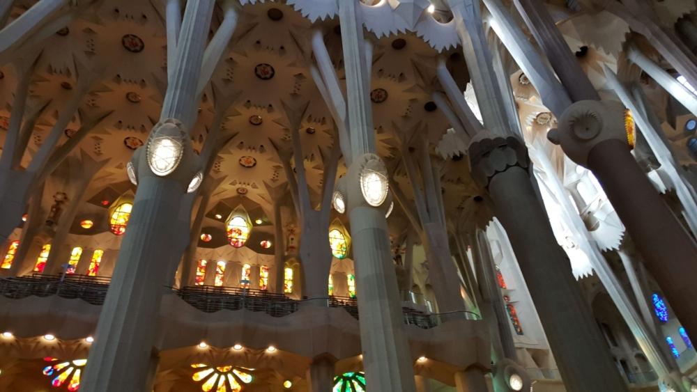 Sagrada Familia inside, Barcelona