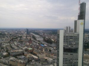 Franfkurt from a skyscraper