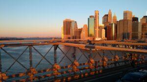 Skyscrapers from Brooklyn Bridge, New York